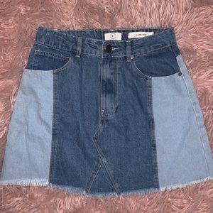 A Line Mini Denim Skirt